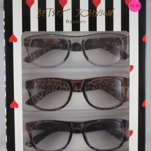 bf1cecc2d9 Betsey Johnson Readers Reading Glasses +2.00 NEW